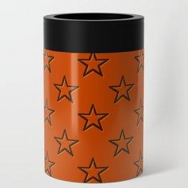 Orange stars pattern Can Cooler