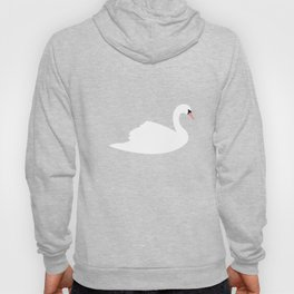 Swan Pattern on Pink 030 Hoody