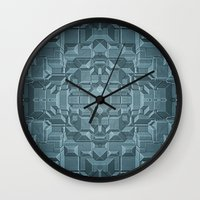 sci fi Wall Clocks featuring Future Sci Fi City by Phil Perkins