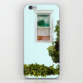 Turquoise Window iPhone Skin