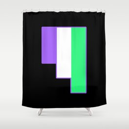 Genderqueer Shower Curtain
