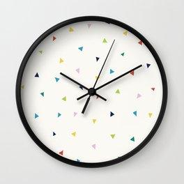 Cute Confetti Pattern Wall Clock