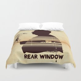 Rear Window Hitchcock silhouette art Duvet Cover