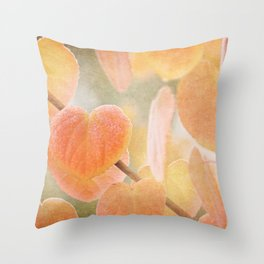 Fading Hearts Throw Pillow