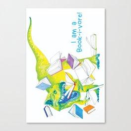 I am a Book-i-vore! Canvas Print
