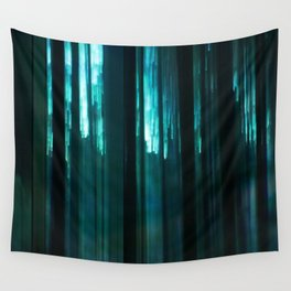 Forest in emerald green Wall Tapestry