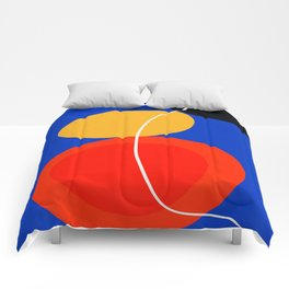 red yellow black blue abstract zen minimal art Comforters