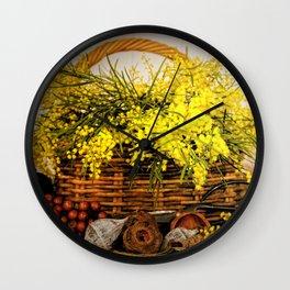 Golden Wattle Wall Clock