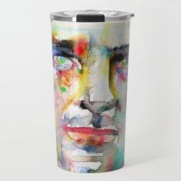 JACK KEROUAC - watercolor portrait.4 Travel Mug