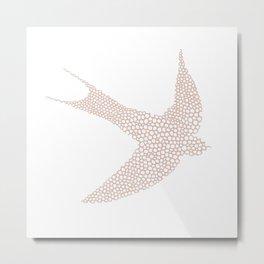 Salmon Swallow Metal Print