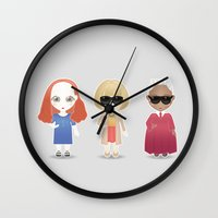 vogue Wall Clocks featuring Vogue by Ricky Kwong