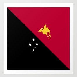 Papua New Guinea flag emblem Art Print