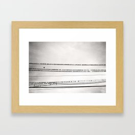 Birds on Wire Black and White Photography, Birds on Telephone Wires Photo, Flock Birds Nature Print Framed Art Print