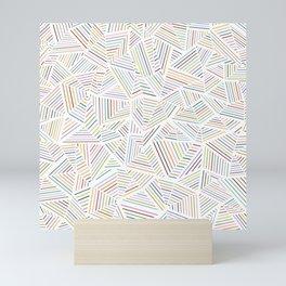 Abstraction Linear Rainbow Mini Art Print