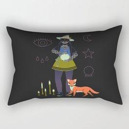Witch Series: Crystal Ball Rectangular Pillow
