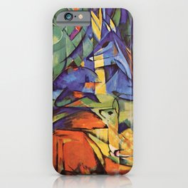 "Franz Marc ""Deer in the Forest II"" iPhone Case"