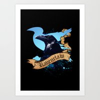 ravenclaw Art Prints featuring Ravenclaw by Markusian