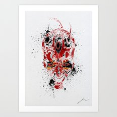 Red Rage Art Print