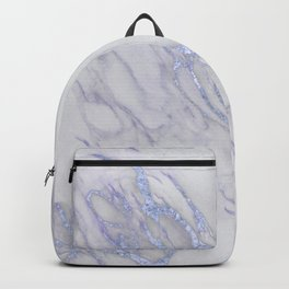 Marble Love Sapphire Metallic Backpack