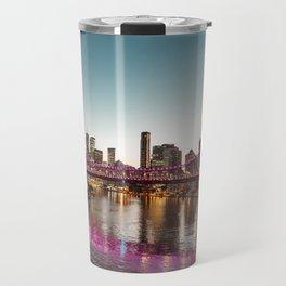 brisbane skyline at dusk Travel Mug