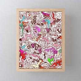 Kamasutra LOVE - Candy Cane Red Framed Mini Art Print