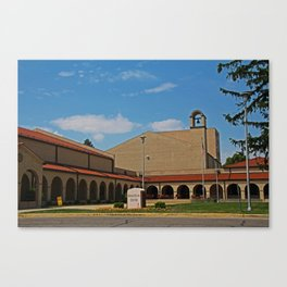 Lourdes University-  Franciscan Center in the Spring II Canvas Print