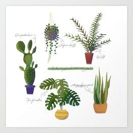 Plant Obsessive Mom Art Print