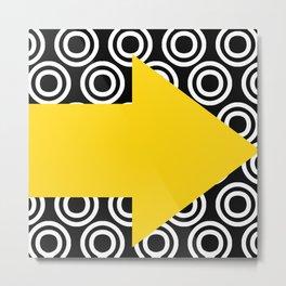 Yellow arrow design Metal Print