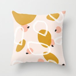 Abstract Fall III Throw Pillow