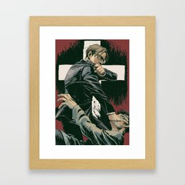 Kingsman church scene Framed Art Print
