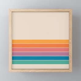 Boca Spring Stripes Framed Mini Art Print