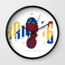 Lebron 16 SB Down Wall Clock
