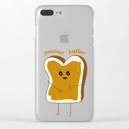 peanut butter friend Clear iPhone Case