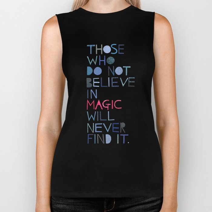 Believe in magic... Biker Tank