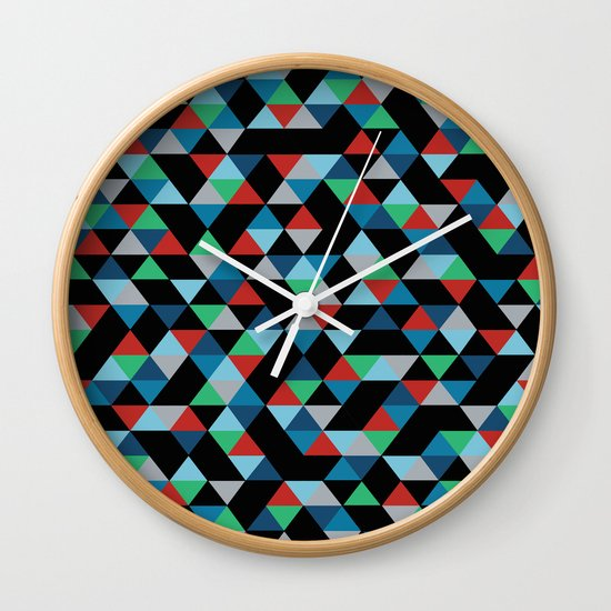 Triangles 4B Wall Clock