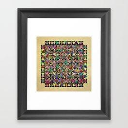 Geo Mosaic Framed Art Print