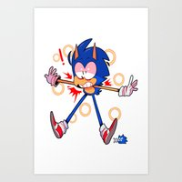 sonic Art Prints featuring sonic by Kai L.