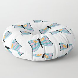Colorful Butterflies Floor Pillow