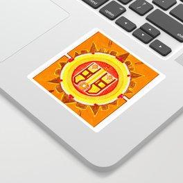 Ahau yellow sun Sticker