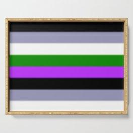 Genderqueer Pride Flag v2 Serving Tray