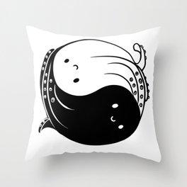 Ying yang octopi Throw Pillow
