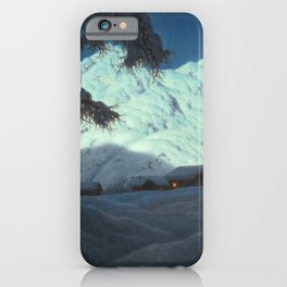Winter Cabin in the Mountains landscape painting by Ivan Fedorovich Choultsé iPhone Case
