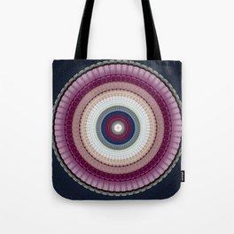 Decorative Wine Dark Blue Mandala Tote Bag