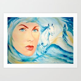 Dream of Blue Art Print