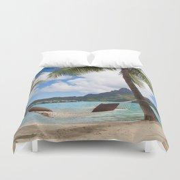 Bora Bora Photography - Tahiti - French Polynesia - Mt Otemanu - Beach - Overwater Bungalow - Fine A Duvet Cover
