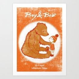 Boy & Bear Gigposter Art Print