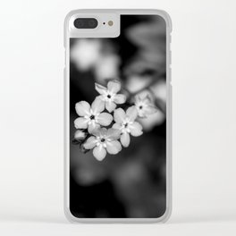 Five Forget-Me-Nots B&W Clear iPhone Case