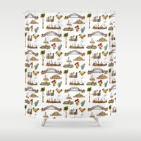 sydney Shower Curtains featuring Sydney by Jess Stewart-Croker