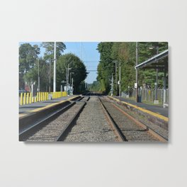 Boston Commute Metal Print