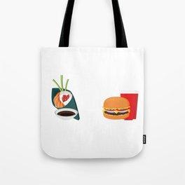 Sushi vs Fastfood Tote Bag